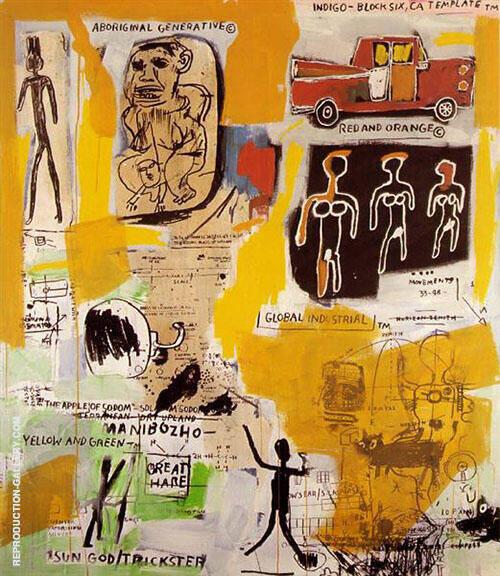 Aboriginal By Jean-Michel-Basquiat
