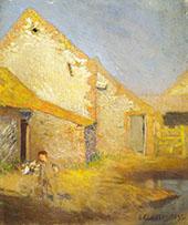 A Farmyard 1893 By Sir George Clausen