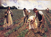 A Field Gang 1883 By Sir George Clausen