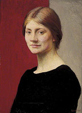 A Girl in Black 1913 By Sir George Clausen