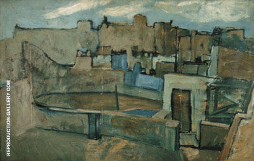 Roofs of Barcelona 1903 Painting By Pablo Picasso - Reproduction Gallery