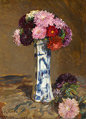 Asters By Sir George Clausen