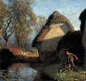 At The Back of The Barn 1902 By Sir George Clausen