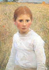 Brown Eyes 1891 By Sir George Clausen