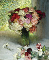 Carnations and Pinks By Sir George Clausen