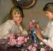 Children and Roses 1899 By Sir George Clausen