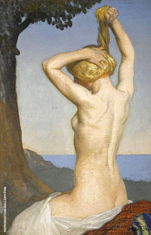 Female Nude By George Clausen