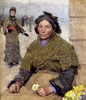 Flora The Gypsy Flower Seller 1883 By Sir George Clausen
