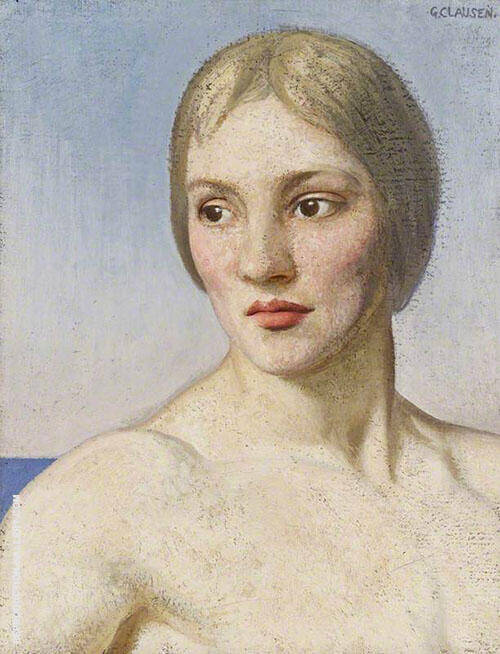 Frieda 1920 By Sir George Clausen
