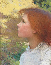 Head of A Young Girl 1890 By Sir George Clausen