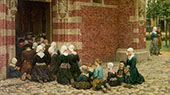 High Mass at A Fishing Village on The Zuyder Zee Holland 1876 By Sir George Clausen