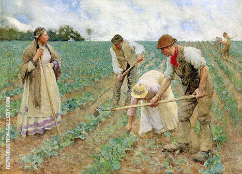 Hoeing Turnips 1883 By Sir George Clausen