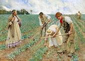 Hoeing Turnips 1883 By Sir George Clausen