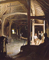 Interior of an Old Barn 1908 By Sir George Clausen