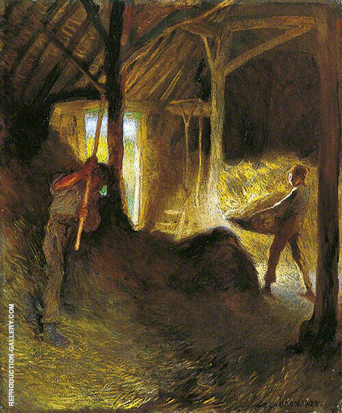 In The Barn 1902 By George Clausen