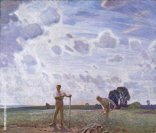 In The Fields in June 1914 By George Clausen