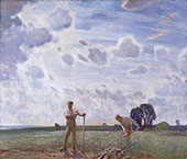 In The Fields in June 1914 By Sir George Clausen