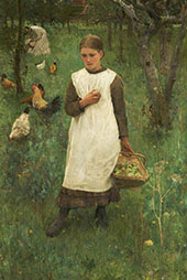 In The Orchard 1881 By Sir George Clausen