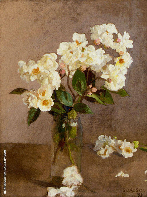 Little White Roses 1931 By George Clausen