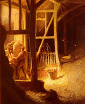 The Barn Door By Sir George Clausen