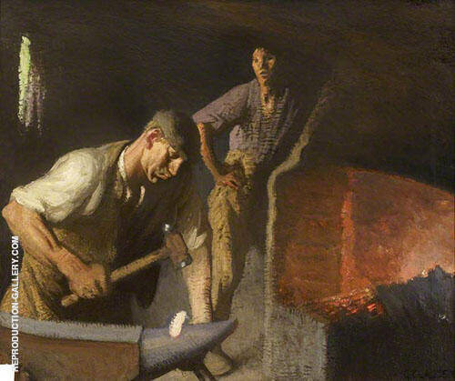 The Blacksmith 1926 Painting By Sir George Clausen - Reproduction Gallery