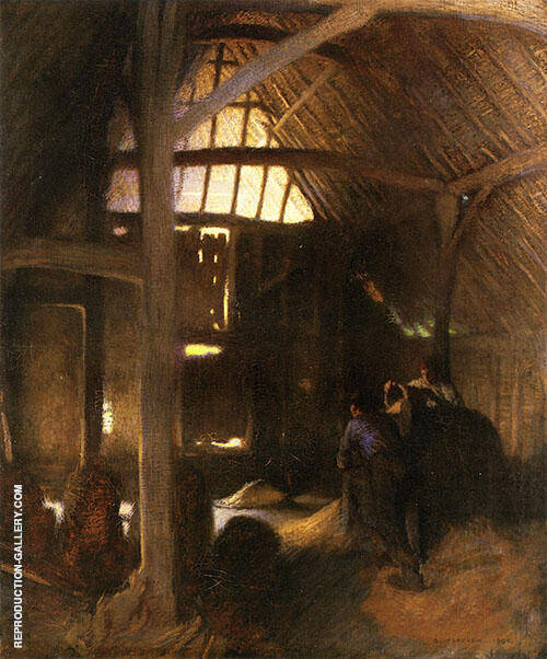 The Dark Barn 1900 By George Clausen