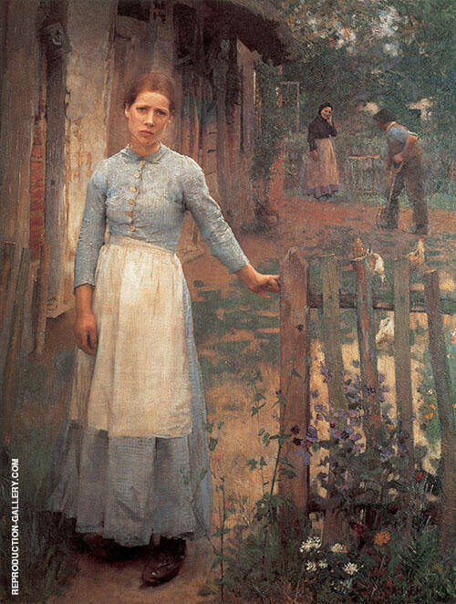 The Girl at The Gate 1889 By Sir George Clausen