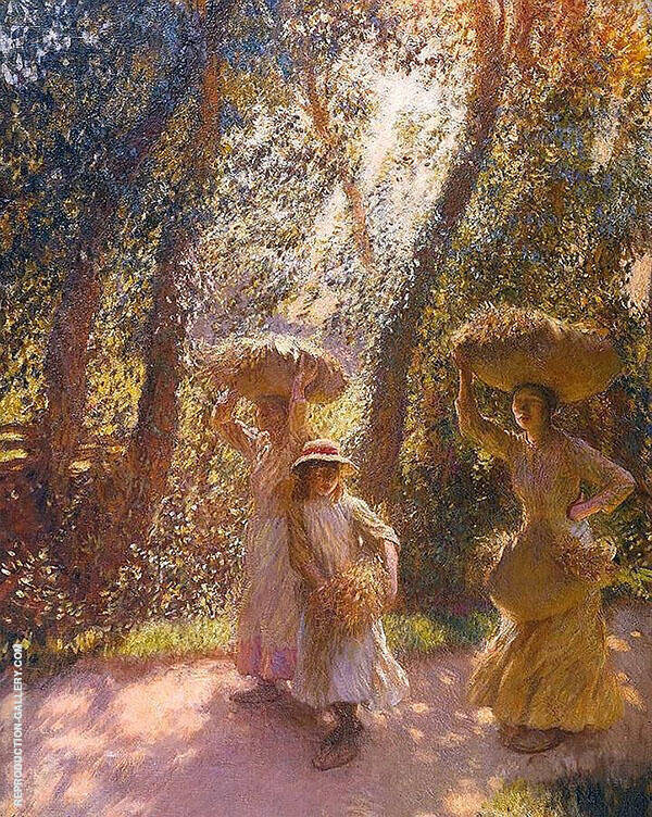 The Gleaners Returning 1908 Painting By Sir George Clausen