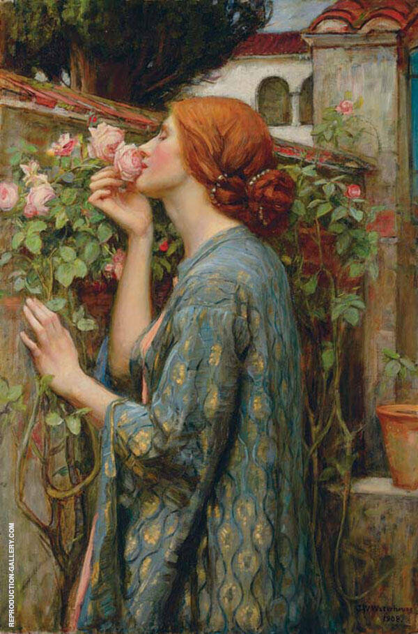 The Soul of the Rose, 1903, aka My Sweet Rose By John William Waterhouse