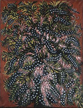 Grappes et Feuilles Roses c1925 By Seraphine Louis