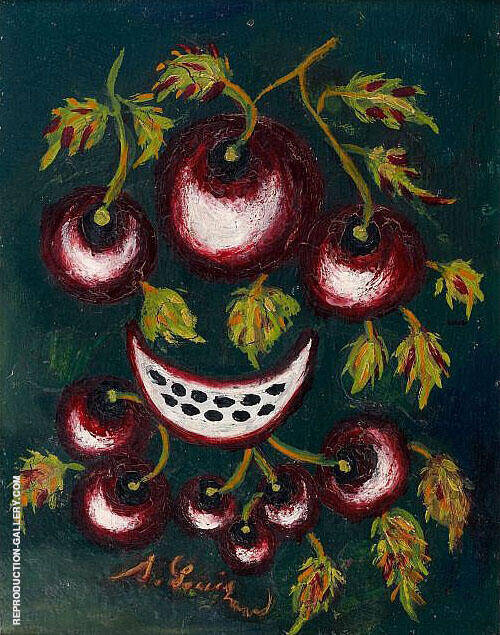 Nature Morte aux Cerises 1925 Painting By Seraphine Louis