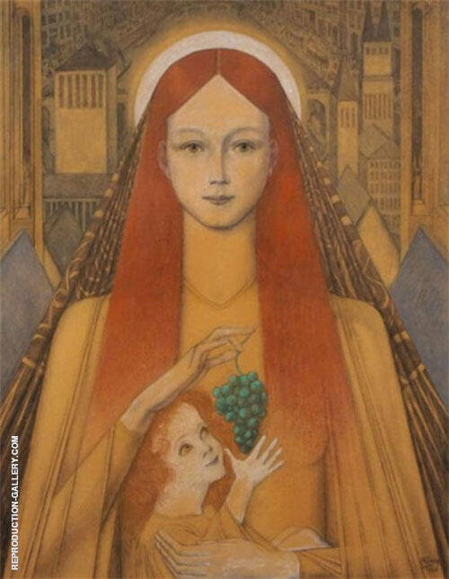 Mary and the Christ Child By Jan Toorop