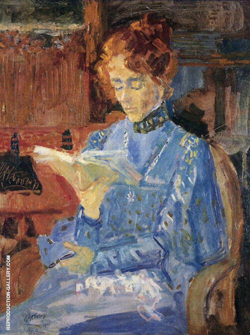 Portrait of Lucie van Dam Isselt By Jan Toorop
