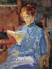 Portrait of Lucie van Dam Isselt By Jan Toorop