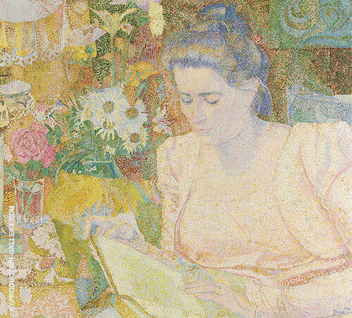 Portrait of Marie Jeanette Lange By Jan Toorop