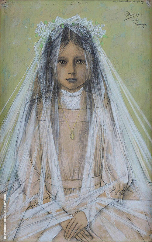 Portrait of Nora Leeuwenberg By Jan Toorop