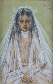Portrait of Nora Leeuwenberg By Jan Toorop