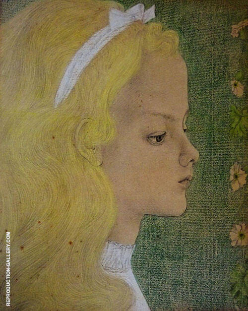 Portrait of A Young Girl By Jan Toorop