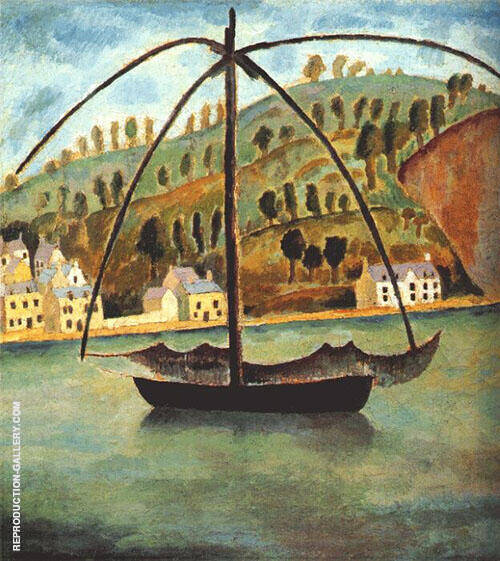 A Fishing Vessel in The Mediterranean Sea Painting By Dora Carrington