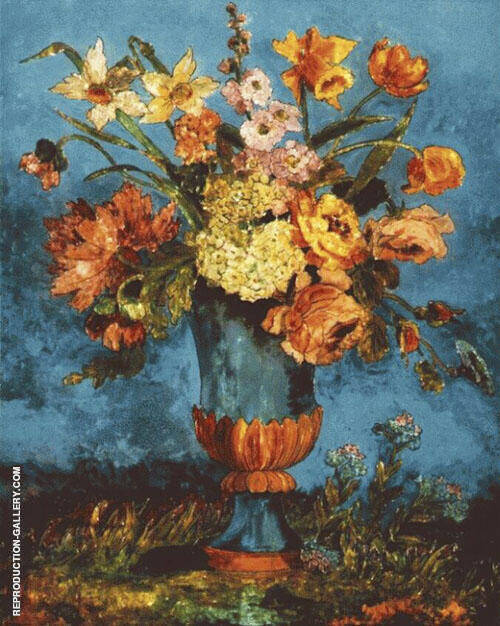 Floral Still Life Painting By Dora Carrington - Reproduction Gallery