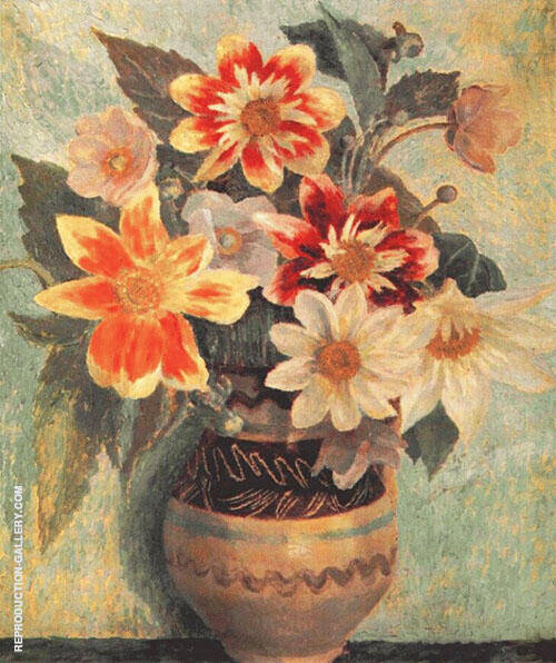 Flowers in A Vase By Dora Carrington