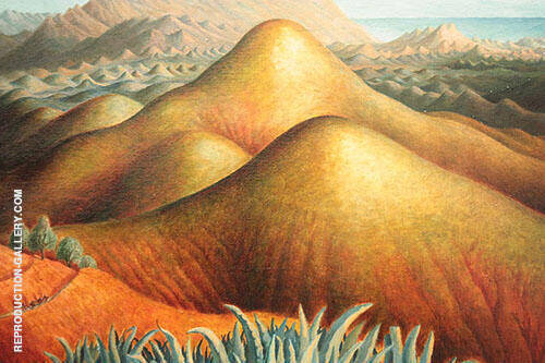 Mountain Ranges from Yegen Andalusia 1924 Painting By Dora Carrington