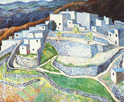 Mountain Town in Audalusia By Dora Carrington