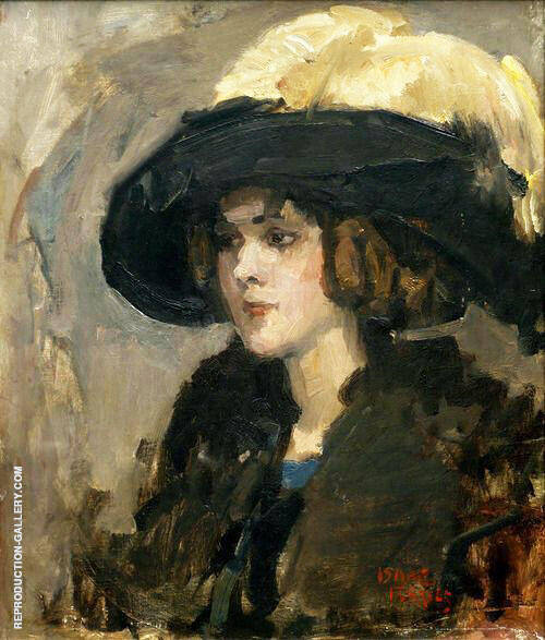 Lady with Hat By Isaac Israels