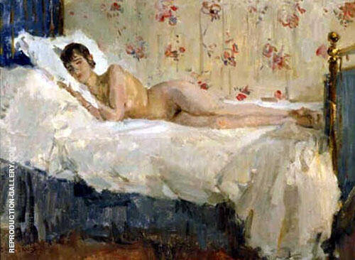 Lying Nude Painting By Isaac Israels - Reproduction Gallery