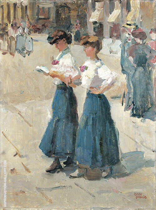 Midinettes Place Vendone Paris By Isaac Israels
