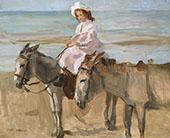 On Scheveningen Beach By Isaac Israels
