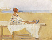 On the Beach at Viareggio By Isaac Israels