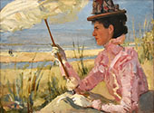 Portrait of Mrs D Calisch Hijmans By Isaac Israels