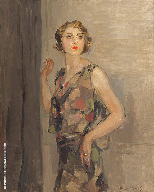 Portrait of Woman Standing By Isaac Israels